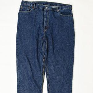Levis Regular  Blue 46x32 560 Cotton Solid